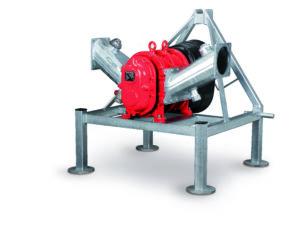 Rotary Lobe Pump_R Series mounted on a three-point base
